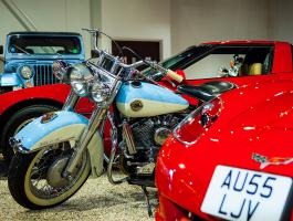 1958 Harley Davidson Duo-Glide at Haynes International Motor Museum