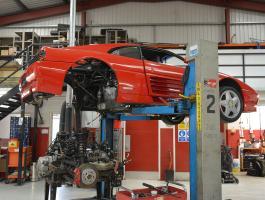Ferrari 348 TB, Engine removed - Car Restoration Somerset