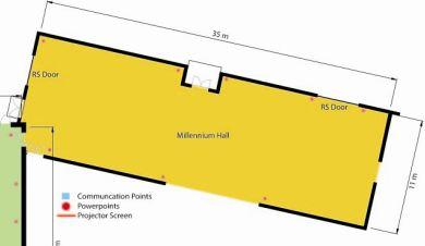 Millenium floorplan Venue Hire Somerset