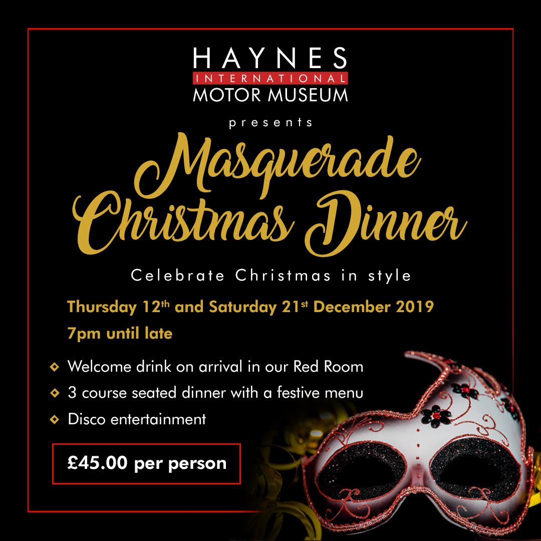 de75b7c0e9c7 Christmas Parties 2019   Haynes International Motor Museum